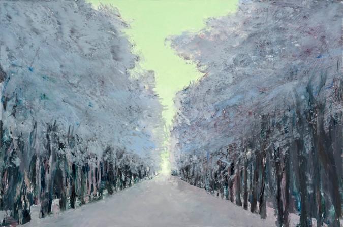 Allee im Schnee, 2011, 112 x 190