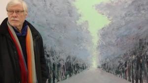 Allee im Winter, 2012, in der Kommunalen Galerie